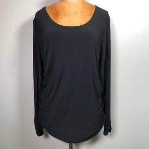 SYMPLI Black long sleeve Top Blouse